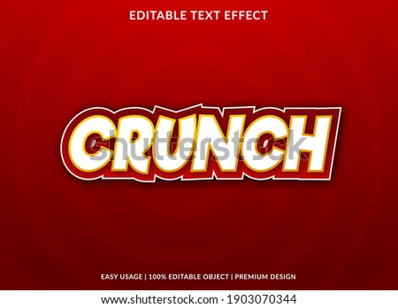 crunch text effect template with bold style use for business brand and logo Сток-фото ©
