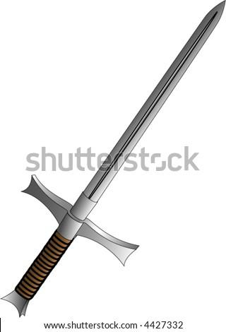 Crusader sword vector