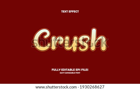 crush style editable text effect Foto stock ©