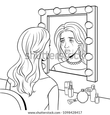 crying actress girl in dressing