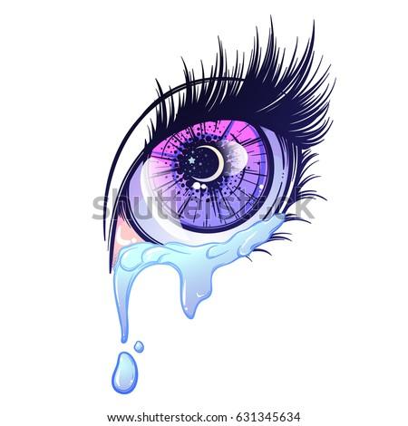 crying eye in anime or manga