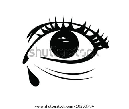 anime eyes crying. stock vector : Crying Eye