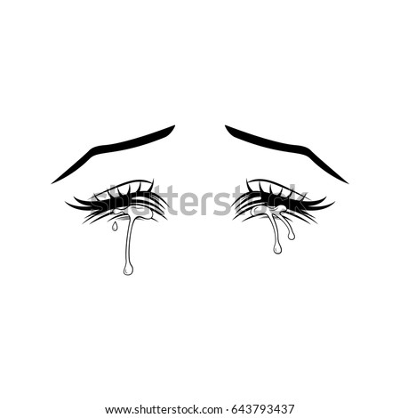 crying eyes manga style