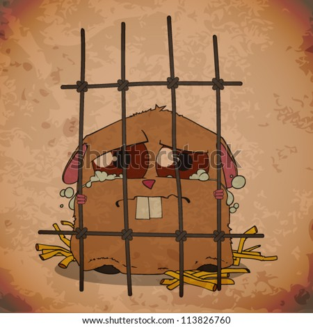 stock-vector-crying-hamster-in-a-cage-grunge-vector-illustration-113826760.jpg