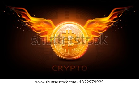 crypto currency background with