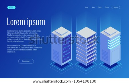 Cryptocurrency and Blockchain concept. Farm for mining bitcoins Foto stock ©