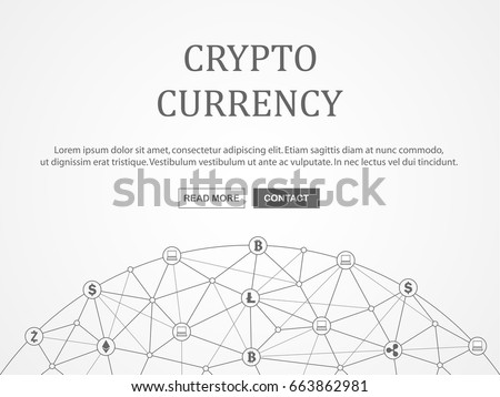 Cryptocurrency and blockchain infographic. Vector illustration.