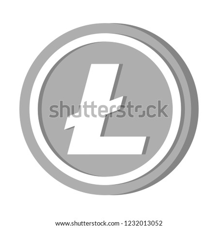 Cryptocurrency icon coin vector illustration : Litecoin LTC