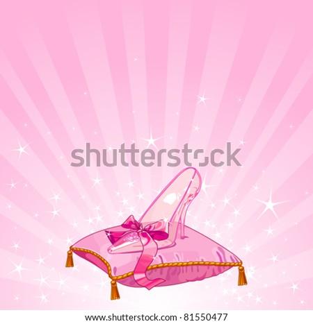 crystal cinderella s slipper on