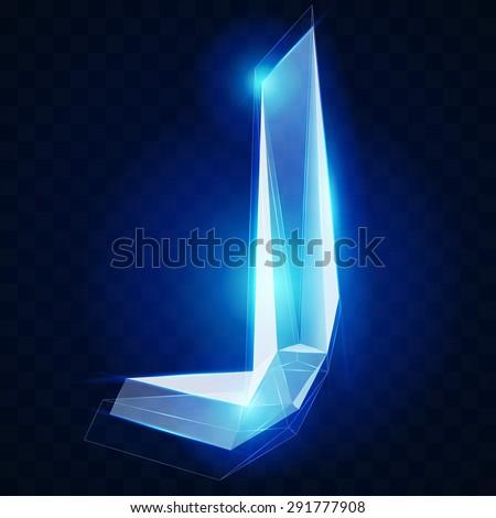 crystal ise alphabet vector