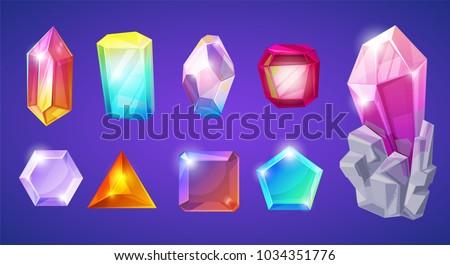 crystal stone vector