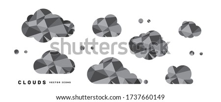 crystal texture clouds vector