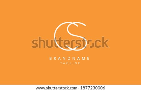 CS Alphabet initial Letter Monogram Icon Logo vector illustration Stock fotó ©