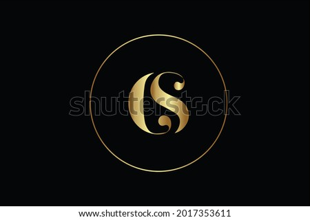 CS elegant logo with initials for company -vector Stock fotó ©