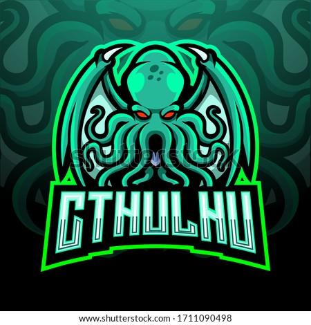 cthulhu esport logo mascot