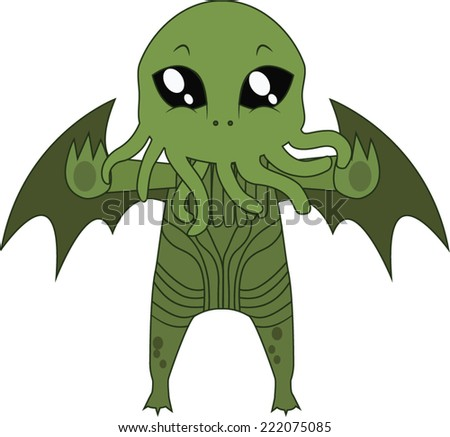 cthulhu halloween monster mascot