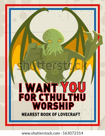 cthulthu monster parody poster