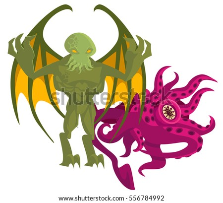 cthulthu octopus winged evil