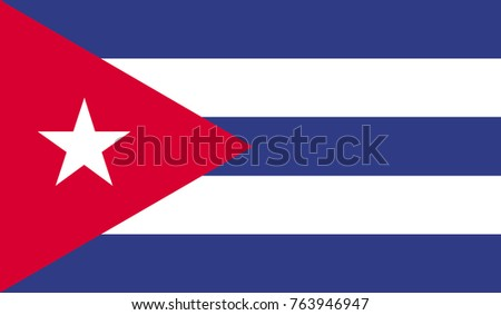 Cuba flag, official colors and proportion correctly. National Cuba flag vector illustration. High detailed vector flag of Cuba.