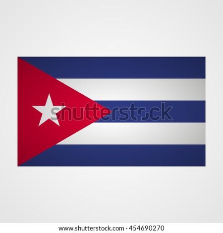 cuba flag on a gray background
