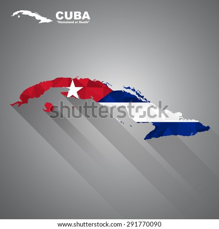 cuba flag overlay on cuba map