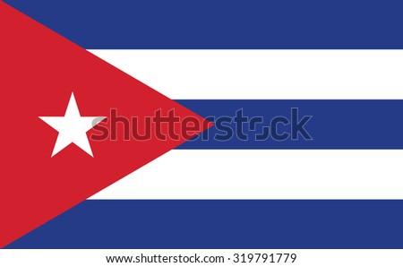 cuba flag vector design eps10