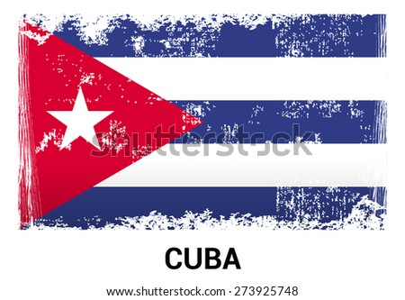 cuba grunge flag isolated