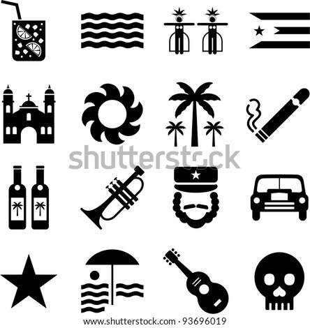 cuba pictograms