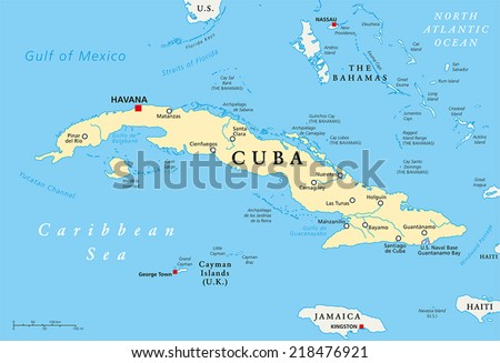 Cuba And Us Map Globalinterco - Us map with capitals and rivers