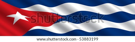 Cuban Flag in the Wind
