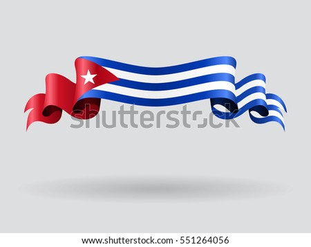 cuban flag wavy abstract