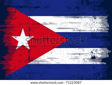 cuban grunge flag a grunge flag
