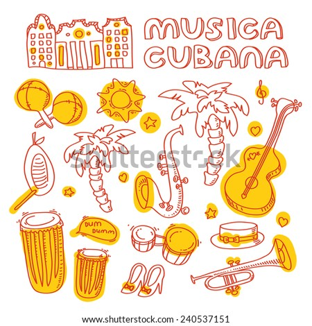 cuban music illustration with