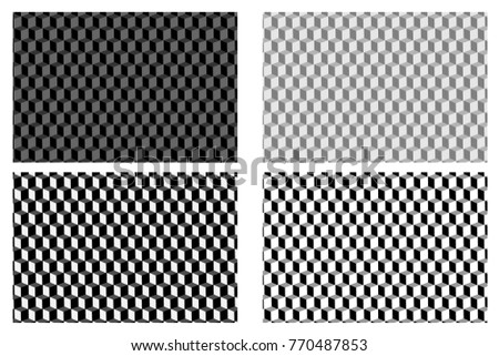 Shutterstock Cube - abstract vector pattern - black and white set,
