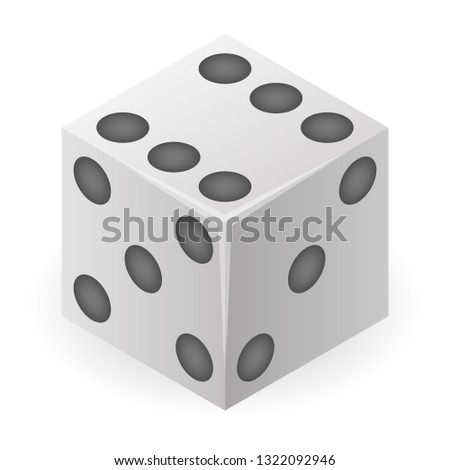 Cube dice icon. Isometric of cube dice vector icon for web design isolated on white background Stock photo ©