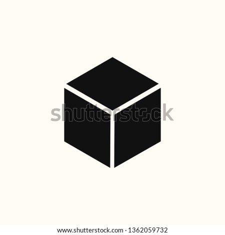 Cube icon, flat design cube, cube icons graphic design vector symbol