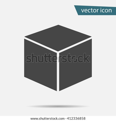 Cube  icon isolated on background. Modern flat pictogram, business, marketing, internet concept. Trendy Simple vector symbol for web site design or button to mobile app. Logo illustration