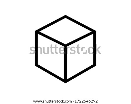 Cube icon. Shape cube vector icon isolated on background. Illustration transportation box for mobile apps. Pictogram for web. Minimalist style icon abstract cube. Abstract concept cube icon