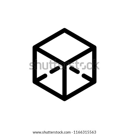 Cube icon, vector illustration. Flat design style. vector cube icon illustration isolated on white background, cube icon Eps10. cube icons graphic design vector symbols.