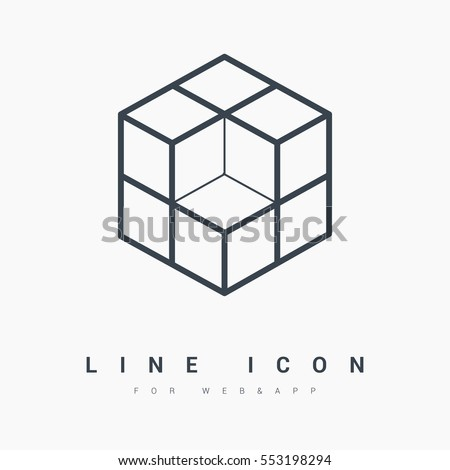 cube isolated minimal icon