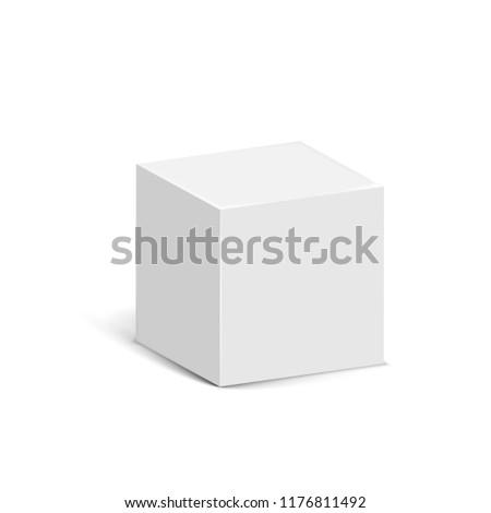 Cube isolated on white background. Vector illustration. Eps 10.