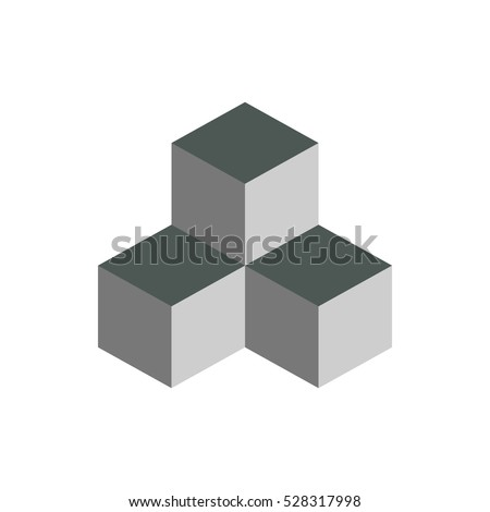 Cube isometric logo concept, 3d vector illustration.