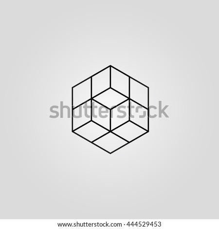 cube minimal logo concept
