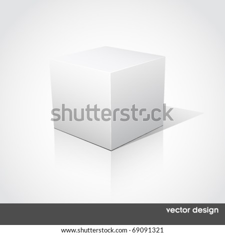 Cube on a white background. Vector