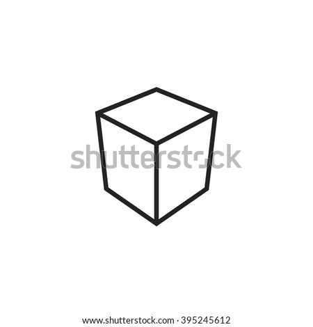 cube outline icon