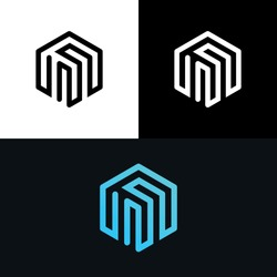 Cube Polygon Box Abstract Gradient Logo