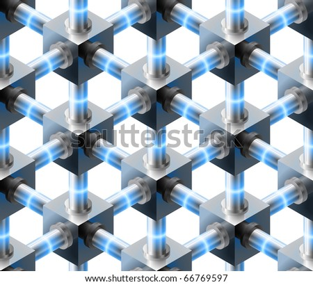 Cube seamless pattern - vector background for continuous replicate.