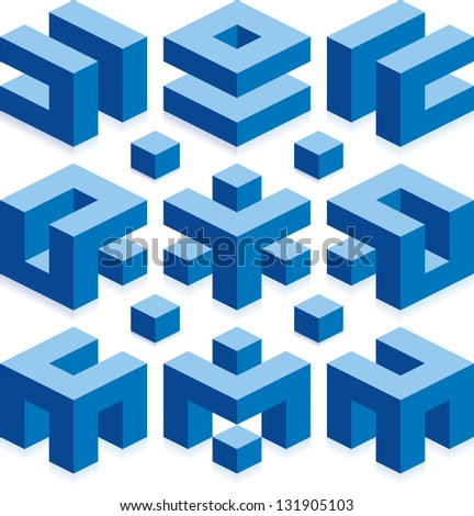 Cube Vector Elements for Construction