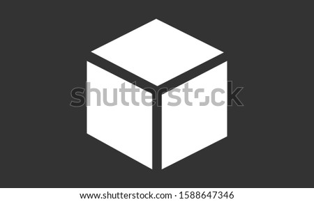 Cube vector icon. cube for math icon. Cube for building icon. Cube square icon. 10 EPS and Lorem Ipsum. flat design.