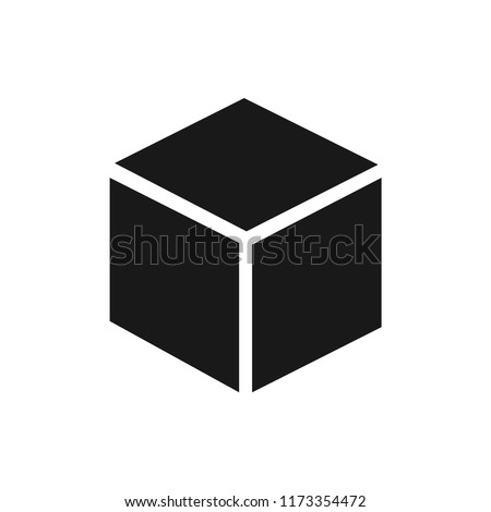 cube vector icon 10 eps
